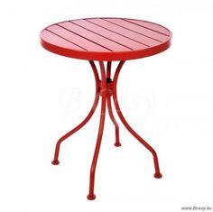 J-Line Ronde rode bistrotafel rond metaal rood 59 Jline-by-Jolipa-41573
