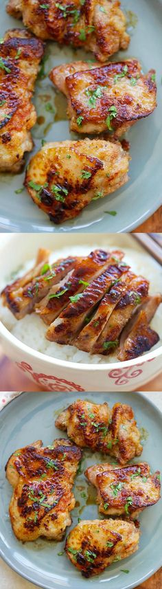 Skillet Lemongrass Chicken – best and easy skillet chicken recipe. Marinate with lemongrass, salt, honey, pan-fried & dinner is ready | rasamalaysia.com