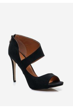 Sandałki na szpilce Jenny czarne