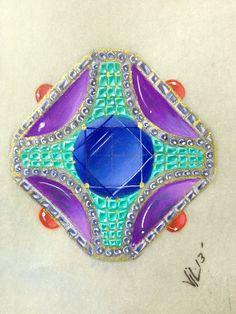 Bulgari Inspired Brooch by Jenine Lepera Izzi Rapid Rendering http://www.nyjdi.com/workshop/rapidrendering/