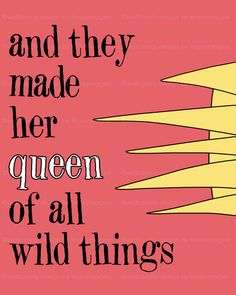 they called her the most wild thing of all - nursery and children's wall art - where the wild things are girls room.