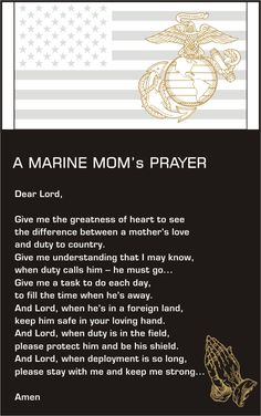 The Marine Mom's Prayer I LOVE U-ASPEN!!!