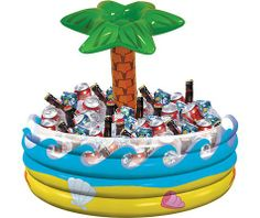 Inflatable Palm Tree Oasis Cooler - Party City  earl might not love it but I think this is definitely happening for the rehearsal dinner!