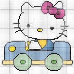 Mais gráficos da Hello Kitty em ponto cruz - =(^.^)=Rô Tricô e Crochê Mania=(^.^)=