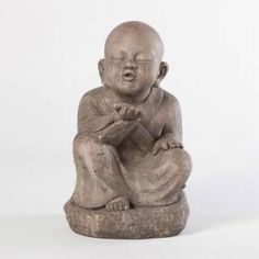 Check out the Alfresco Home 61-8712 Wishing Buddha Garden Statue in Antica