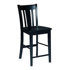 International Concepts Black San Remo Counterheight Stool at www.carsons.com