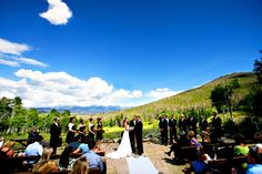 Wide Shot Wedding Ceremony At Snow Mountain Ranch Winter Park Ymca Of The Rockies