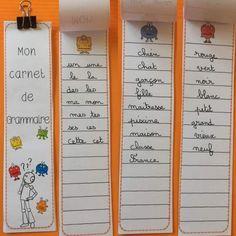 Grammaire : mon carnet de grammaire ( les classes de mots) | Bout de Gomme