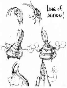 How to draw SpongeBob drawing_tips_04_Line-of-Action Mr. Krabs