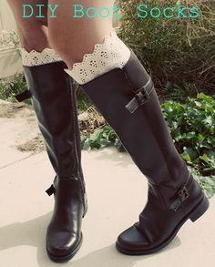 DIY Boot Socks...perfect for fall and winter