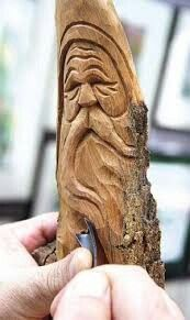 Carving Tree Spirits - Found Wood