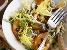 Roasted Pear Salad With Endive, Pomegranate, Blue Cheese, and Hazelnut Vinaigrette | Serious Eats