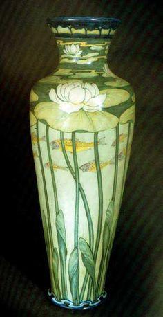 galileo chini nouveau liberte vase ceramics pottry clay lotus