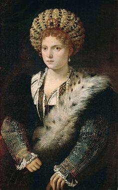Tiziano Vecellio - Ritratto di Isabella d'Este (1534-1536)