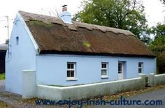 Thatched Irish cottage, County Galway, Ireland        There are not many thatched roofs left.