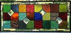 Jumbled Large Stained Glass Window Panel by Lindaleeglass on Etsy