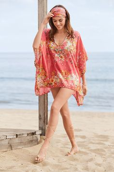 Resort Style, Johnny Was, Free Spirit, Warm Weather, Summer Outfits, Cover Up, Bohemian, Blouses, Colours