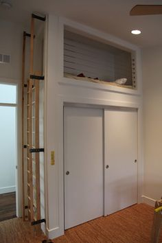L Loft Bed Over Closet Door Kids Bedroom In 2019 Bunk