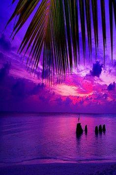 Purple sunset in the tropics. #vacation #travel #avacationrental4me.com