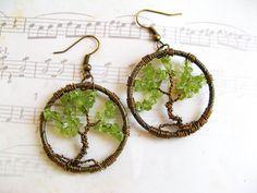 Tree of LIfe Earrings  August Birthstone by RachelRode on Etsy, $42.00