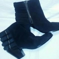 Black Sam Edelman ankle booties Beautiful  pair of black Sam Edelman ankle boots.  Extremely comfortable and very fashionable.  Tried on for pic and have box...but will not send unless you ask. Sam Edelman Shoes Ankle Boots & Booties
