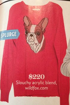Red Boston Terrier Sweater.
