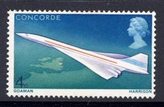 Concorde stamp UK 1969