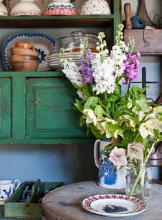 Flowers maketh the man-and the cottage.