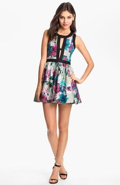 Keepsake the Label 'Day Dream' Print Fit & Flare Dress available at #Nordstrom