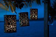 Luces de jardín con latas