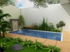 Simple small pool design for narrow backyard, Small pool with etnik decoration backyard theme, Great design swimming pool for narrow home yard, Small pool design for narrow backyard . Small Swimming Pools, Small Pools, Swimming Pool Designs, Pond Tubs, Outdoor Pool, Outdoor Decor, Outdoor Living, Pool Landscape Design, Small Pool Design