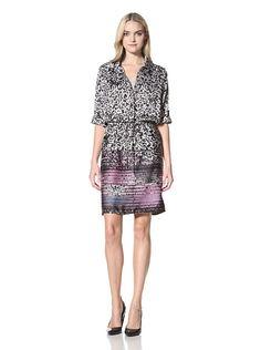 Marina Women's Printed Shirt Dress