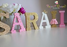 Princess Name Wood letters/ princess personalized by PaperDreamCre