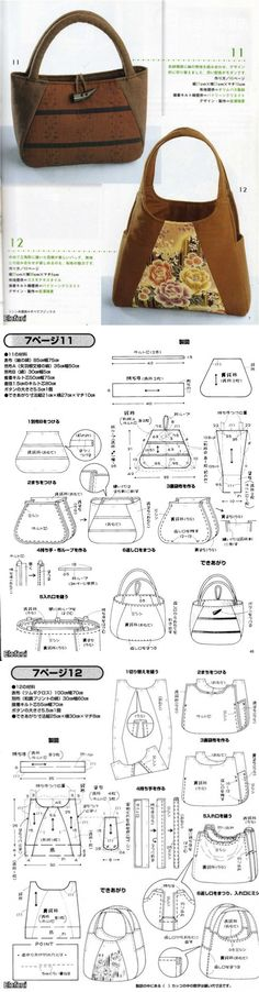 bags and purse patterns and ideas