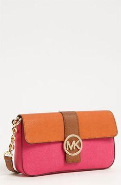 &198 MICHAEL Michael Kors 'Fulton - Small' Colorblock Shoulder Bag available at Nordstrom