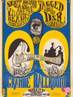 Grande Ballroom 2/24 & 25/67 Artists:  David Carlin  Gary Grimshaw     Performers:  Scott Richard Case (2/24)  Village Beaus  Jagged Edge (2/25)  D.S.R.