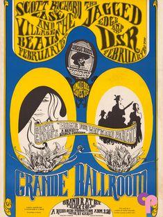 Grande Ballroom 2/24 & 25/67 Artists:  David Carlin  Gary Grimshaw     Performers:  Scott Richard Case (2/24)  Village Beaus  Jagged Edge (2/25)  D.S.R.