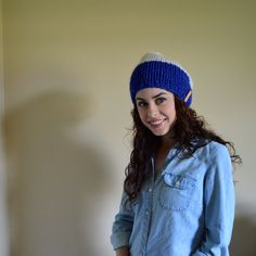 The Explorer Hat // Cobalt & Wheat // Chunky Knit by TheUnknotting