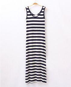 Modal U Neckline Tank Dress in Maxi Length - Casual Dresses - Dresses - Clothing