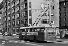 Trolley bus, Helsinki History Of Finland, Helsinki, Good Old, Old Photos, Black And White, Google, Vintage, Historia, Old Pictures