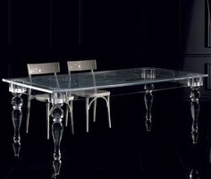 How intriguing is the design of this acrylic Oste Table by Colico Design? A traditional shape but interpreted with a modern twist via its material. Sleek and light, this table is hip and elegant all at once.
