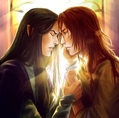 Fingon and Maedhros  http://niyochara.tumblr.com/post/65427121532/fingon-and-maedhros-my-old-file-that-im-so
