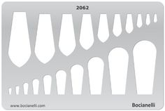 TONGUE SHAPES Jewelry Making Design Template Drawing Drafting Stencil