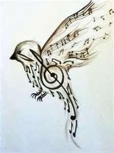 Music note bird