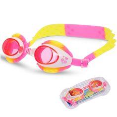 Sinca Kinder Schwimmbrille Wasserbrille UV-Schutz Antibeschlag langfristiger Nebelschutz Rosa + Gelb: Amazon.de: Sport & Freizeit