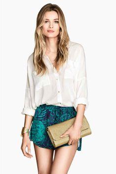 Short en satin H&M printemps été 2014