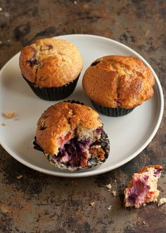 blueberry and apricot muffins...I think I'd substitute another fruit for the blueberries...I'm thinking raspberries