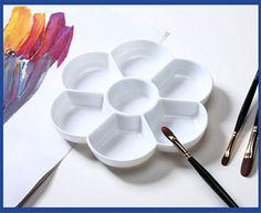 Amazon.com: Bestwoohome Plastic 7 Wells Watercolor Art Paint Tray Palette Plum…