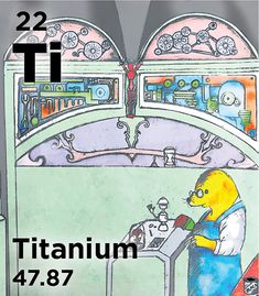 Ti - About of titanium produced each year is made into titanium dioxide. Because it is non-toxic and scatters light well, it is used as a brightner in everything from paint to food to sunscreen Mythological Names, House Painter, Passenger Aircraft, Light Well, Bone And Joint, Submarines, Almost Always, Sports Equipment, Camping Gear