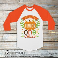 Personalized Little Pumpkin Patch Birthday Shirt  ♥ ITEM DESCRIPTION 1 - Personalized Design (shown above) printed onto a White 100% Cotton Shirt  ♥ BABY BODYSUIT SIZES AVAILABLE*: NEWBORN, 3M, 6M, 9M, 12M, 18M, 24M *Long Sleeve Baby Bodysuits also available  ♥ KIDS T-SHIRT SIZES AVAILABLE: 6-12M, 12-18M, 18-24M, 2T, 3T, 4T, XS, S, M, L, XL  The Baby Bodysuit & T-shirt Size Chart with measurements can be found here:  https://img0.etsystatic.com/106/0/12291964/il_570xN.929344570_cqzd.jpg  ♥…